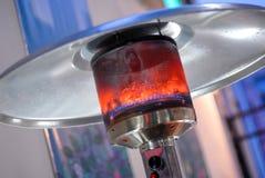 Diseñe el calentador interior ardiente metal-gas del patio del acero inoxidable Imágenes de archivo libres de regalías