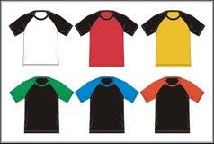 Diseñe el color de combinación del raglán de la camiseta de la plantilla, vector Imagen de archivo