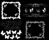 Diseñe el elemento en un fondo negro Imágenes de archivo libres de regalías