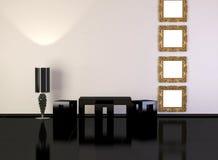 Diseñe el interior de la sala de estar moderna de la elegancia Imagen de archivo libre de regalías