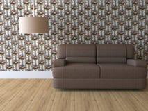 Diseñe el interior de la sala de estar moderna de la elegancia Foto de archivo libre de regalías