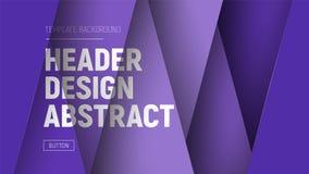 Diseñe el jefe del sitio con capas púrpuras y el texto en diverso leve libre illustration