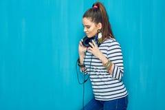 Diseñe el retrato de la muchacha adolescente con estilo de pelo de la cola Fotografía de archivo libre de regalías