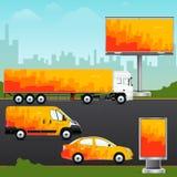 Diseñe el vehículo de la plantilla, la publicidad al aire libre o la identidad corporativa Imágenes de archivo libres de regalías