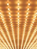 Diseñe la calzada de las luces de la carpa del teatro al teatro Foto de archivo libre de regalías