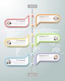 Diseñe la cronología infographic, opciones del negocio de la plantilla 6 de Infographic para el concepto del negocio Fotografía de archivo