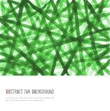 Diseñe la plantilla con el fondo verde abstracto en estilo minimalistic Ilustración del vector con el lugar para su texto ilustración del vector