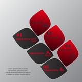 Diseñe la plantilla de las banderas del número, el gráfico o la disposición limpio del sitio web Foto de archivo libre de regalías