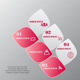 Diseñe la plantilla de las banderas del número, el gráfico o la disposición limpio del sitio web Foto de archivo