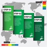 Diseñe la plantilla de las banderas del número/la disposición limpia del gráfico o del Web site Imágenes de archivo libres de regalías