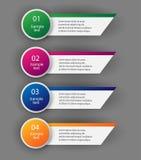 Diseñe la plantilla de las banderas del número/la disposición limpia del gráfico o del Web site Vector stock de ilustración