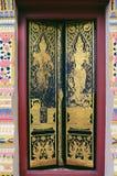 Diseñe la ventana tailandesa hermosa del templo de la arquitectura del estilo en Wat Foto de archivo