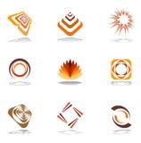 Diseñe los elementos en colores calientes. Imágenes de archivo libres de regalías