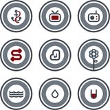 Diseñe los elementos P. 8d Foto de archivo libre de regalías