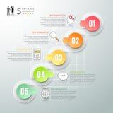 Diseñe los 5 pasos infographic, plantilla infographic del concepto del negocio Fotografía de archivo