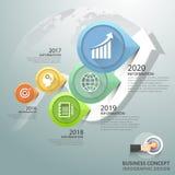 Diseñe los 5 pasos infographic, plantilla infographic del concepto del negocio Foto de archivo
