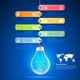 Diseñe opciones infographic de la bombilla las 6, concepto del negocio infographic libre illustration