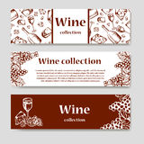 Diseñe para la plantilla del restaurante de la carta de vinos para la invitación, el menú, la bandera o el etc Diseño de concepto Foto de archivo