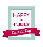 Diseñe una bandera para el día de Canadá el 1 de julio Fotografía de archivo