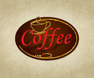 Diseñe una etiqueta del café Fotografía de archivo libre de regalías
