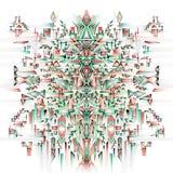 Diseño étnico de la acuarela ilustración del vector