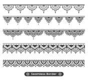 Diseño étnico de la frontera de la mandala del nuevo vector atractivo ilustración del vector