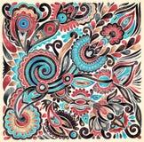 Diseño étnico floral Imagenes de archivo