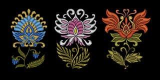 Diseño étnico floral del bordado libre illustration