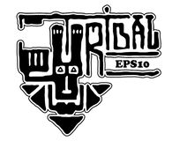 Diseño étnico tribal Etiqueta engomada de la etiqueta de la raya del emblema del logotipo del conejito Impresión de la moda de la ilustración del vector