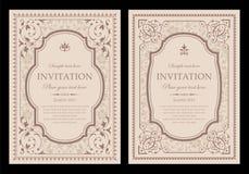 Diseño único de la tarjeta de la invitación - estilo del vintage Fotografía de archivo libre de regalías
