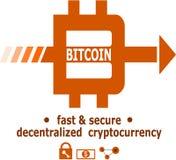Diseño único del logotipo de Bitcoin Imágenes de archivo libres de regalías