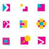 Diseño 2 geométricos de la insignia fotografía de archivo libre de regalías