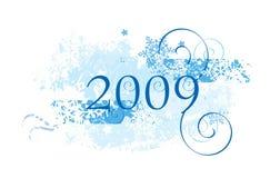 Diseño 2009 de los copos de nieve libre illustration