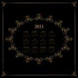 Diseño 2011 del calendario Imágenes de archivo libres de regalías
