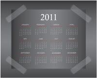 Diseño 2011 del calendario Imagen de archivo