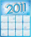 Diseño 2011 del calendario Fotos de archivo libres de regalías