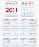Diseño 2011 del calendario Fotos de archivo