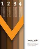 diseño 3d con las banderas/el modelo del Web site Stock de ilustración