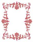 Diseño 3D de la frontera ornamental Imagen de archivo
