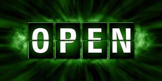 Diseño abierto de las etiquetas - ejemplo Imagen de archivo