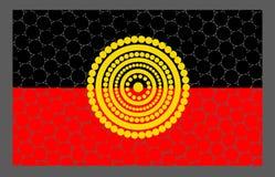 Diseño aborigen de la bandera del vector Imagen de archivo