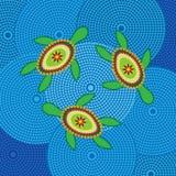 Diseño aborigen de la tortuga stock de ilustración