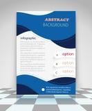 Diseño abstracto azul del aviador del negocio Imagenes de archivo