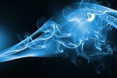 Diseño abstracto azul del humo foto de archivo