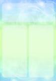 Diseño abstracto azul y verde del folleto Foto de archivo libre de regalías