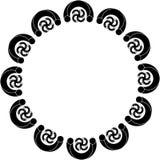 Diseño abstracto circular con los objetos curvados Imagen de archivo libre de regalías