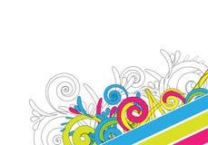 Diseño abstracto colorido Imagen de archivo libre de regalías