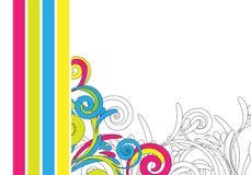 Diseño abstracto colorido Fotografía de archivo