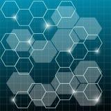 Diseño abstracto con color azul ilustración del vector