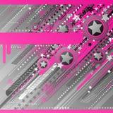 Diseño abstracto con las estrellas. ilustración del vector
